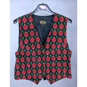 Bob Mackie Medium Vest Ladybug Wearable Art
